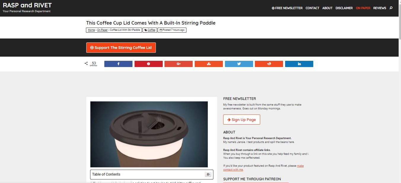 Our Lid Featured on Review Website