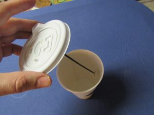 new one of a kind coffee cup lid